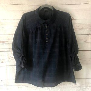 *3/$18*I 'heart' Ronson 3/4 Button Up Blouse